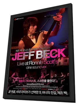 Jeff Beck at Ronnie Scott's - 11 x 17 Movie Poster - Hong Kong Style A - in Deluxe Wood Frame