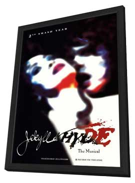 Jekyll and Hyde (Broadway) - 27 x 40 Poster - Style A - in Deluxe Wood Frame