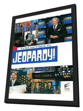 Jeopardy! (TV) - 11 x 17 TV Poster - Style A - in Deluxe Wood Frame