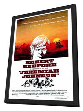 Jeremiah Johnson - 27 x 40 Movie Poster - Style A - in Deluxe Wood Frame