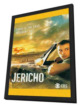 Jericho (TV) - 11 x 17 TV Poster - Style B - in Deluxe Wood Frame