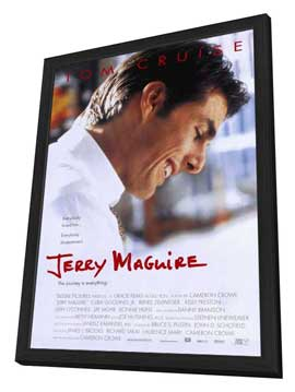 Jerry Maguire - 11 x 17 Movie Poster - Style A - in Deluxe Wood Frame