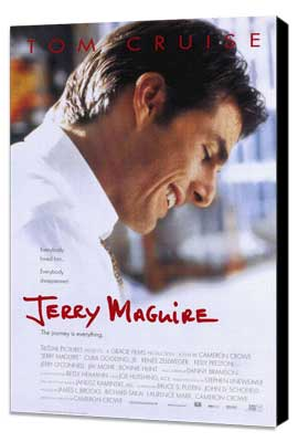 Jerry Maguire - 27 x 40 Movie Poster - Style A - Museum Wrapped Canvas