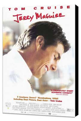 Jerry Maguire - 27 x 40 Movie Poster - Style B - Museum Wrapped Canvas