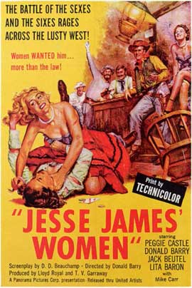 Jesse James' Women - 11 x 17 Movie Poster - Style A