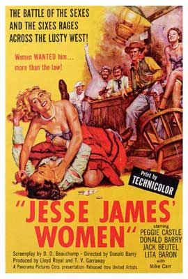 Jesse James' Women - 27 x 40 Movie Poster - Style A