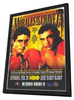 Jesus Chavez vs. Erik Morales - 11 x 17 Boxing Promo Poster - Style A - in Deluxe Wood Frame