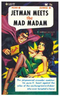 Jetman Meets Mad Madam - 11 x 17 Retro Book Cover Poster