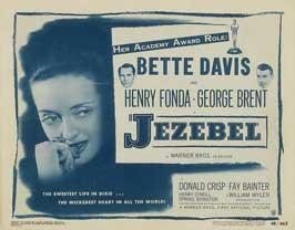 Jezebel - 30 x 40 Movie Poster UK - Style B