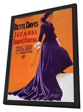 Jezebel - 11 x 17 Movie Poster - Style C - in Deluxe Wood Frame