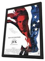 JFK - 11 x 17 Movie Poster - Style A - in Deluxe Wood Frame