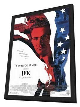 JFK - 27 x 40 Movie Poster - Style A - in Deluxe Wood Frame