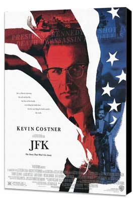 JFK - 27 x 40 Movie Poster - Style A - Museum Wrapped Canvas