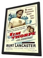 Jim Thorpe - All-American - 11 x 17 Movie Poster - Style A - in Deluxe Wood Frame