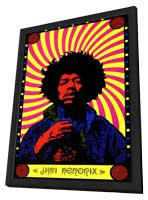 Jimi Hendrix - 11 x 17 Movie Poster - Style A - in Deluxe Wood Frame