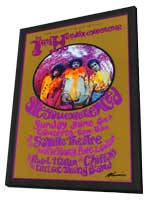 Jimi Hendrix - 11 x 17 Music Poster - Style E - in Deluxe Wood Frame
