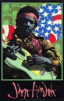 Jimi Hendrix - 11 x 17 Movie Poster - Style B