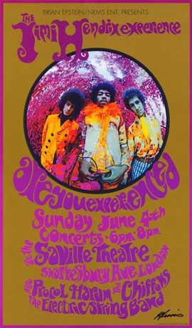 Jimi Hendrix - 11 x 17 Music Poster - Style E