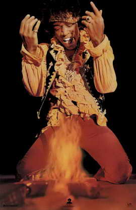 Jimi Hendrix - Music Poster - 22 x 34 - Style B