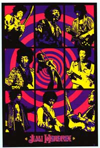 Jimi Hendrix - Music Poster - 24 x 36 - Style A