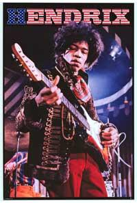 Jimi Hendrix - Music Poster - 24 x 36 - Style G