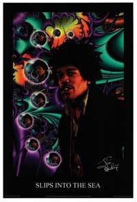 Jimi Hendrix - Music Poster - 24 x 36 - Style E