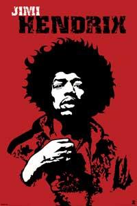 Jimi Hendrix - Music Poster - 24 x 36 - Style F