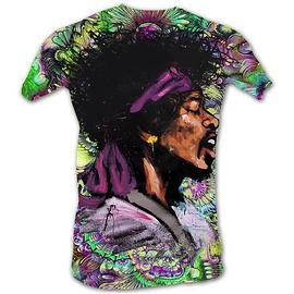 Jimi Hendrix - Big Psychedelic Jimi Neon T-Shirt