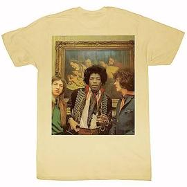 Jimi Hendrix - At A Hotel Tan T-Shirt