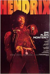 Jimi Plays Monterey - 43 x 62 Movie Poster - Bus Shelter Style A