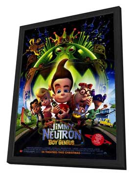 Jimmy Neutron: Boy Genius - 27 x 40 Movie Poster - Style A - in Deluxe Wood Frame
