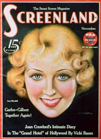 Joan Blondell - 11 x 17 Screenland Magazine Cover 1930's Style A