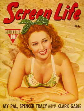 Joan Blondell - 11 x 17 Screen Life Magazine Cover 1930's Style A