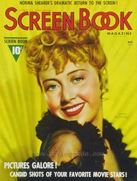 Joan Blondell - 11 x 17 Screen Book Magazine Cover 1940's