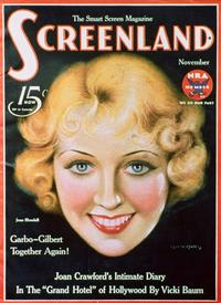 Joan Blondell - 27 x 40 Movie Poster - Screenland Magazine Cover 1930's Style A