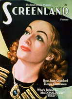 Joan Crawford - 11 x 17 Screenland Magazine Cover 1940's Style A