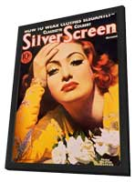 Joan Crawford - 11 x 17 Silver Screen Magazine Cover 1930's Style D - in Deluxe Wood Frame