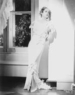 Joan Crawford - Joan Crawford wearing a White Long Gown in Classic Portrait