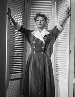 Joan Crawford - Joan Crawford wearing a Coat Dress in a Classic Portrait
