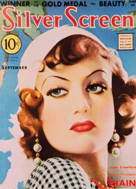 Joan Crawford - 11 x 17 Silver Screen Magazine Cover 1930's Style A
