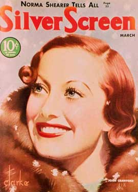 Joan Crawford - 11 x 17 Silver Screen Magazine Cover 1930's Style C