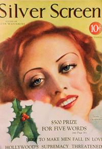 Joan Crawford - 11 x 17 Silver Screen Magazine Cover 1930's Style B