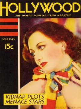 Joan Crawford - 11 x 17 Silver Screen Magazine Cover 1930's Style E