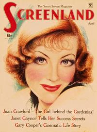 Joan Crawford - 11 x 17 Screenland Magazine Cover 1920's Style A