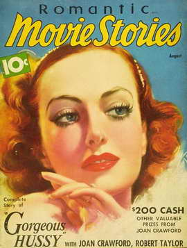 Joan Crawford - 11 x 17 Romantic Movie Stories Magazine Cover 1930's Style A