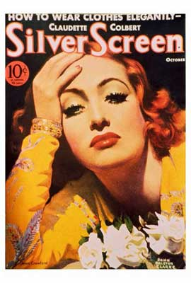 Joan Crawford - 27 x 40 Movie Poster - Silver Screen Magazine Cover 1930's Style D