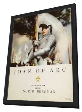 Joan of Arc - 11 x 17 Movie Poster - Style D - in Deluxe Wood Frame