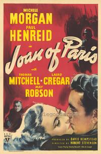 Joan of Paris - 43 x 62 Movie Poster - Bus Shelter Style A