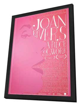 Joan Rivers: A Piece of Work - 11 x 17 Movie Poster - Style A - in Deluxe Wood Frame