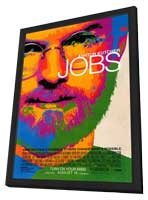 Jobs - 11 x 17 Movie Poster - Style A - in Deluxe Wood Frame